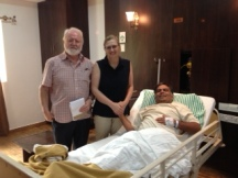 Roger, Leo and Holly Michael, hospital, Bangalore